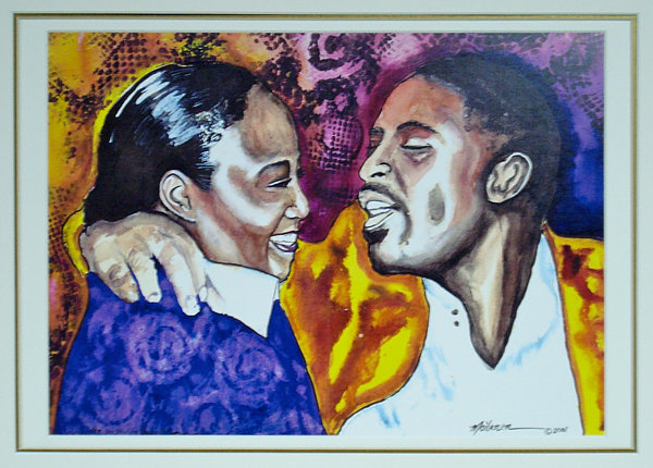 couple - an original acrylic painting by monica moilanen